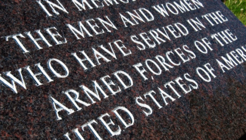 memorial day plaque